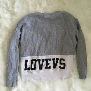 Victoria's Secret Grey and White Sweatshirt